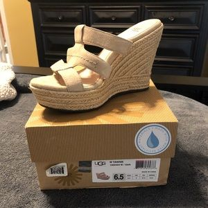 Like New Ugg Wedge Sandals